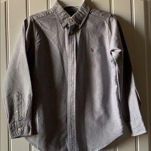 EUC boys Polo button down oxford shirt